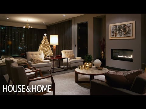 Interior Design | A Luxurious Condo With Dark & Cozy Christmas Decor