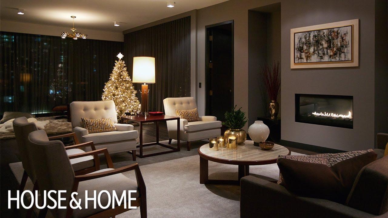 Interior Design A Luxurious Condo With Dark Cozy Christmas Decor Youtube