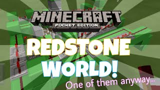 ENTER MY REDSTONE WORLD... | MCPE 0.15.90 (One of my Redstone world's)
