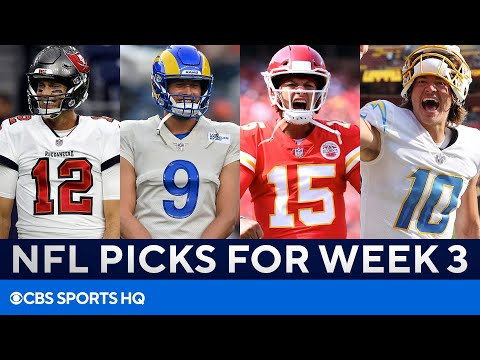 Picks for EVERY Big Week 3 NFL Game   Picks to Win, Best Bets, & MORE   CBS Sports HQ