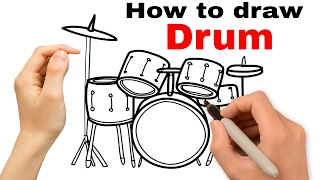 How to draw Drum