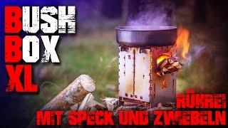 Bushbox XL Titanium Ti Hobo Kocher Bushcraft Outdoor - Review Test (german/deutsch) Ofen Stove