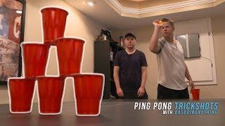 Ping Pong & Card Throwing Trick Shots | Rick Smith Jr