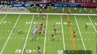 80 yard fumble return td by dunta robinson dallas cowboys vs atlanta falcons madden nfl 13 hd