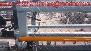 our new automatic chain link fence machine for India customer
