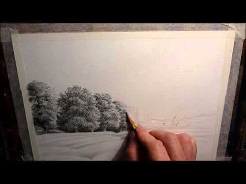 Drawing Trees for Pencil and Wash Watercolour, A few Simple Tips