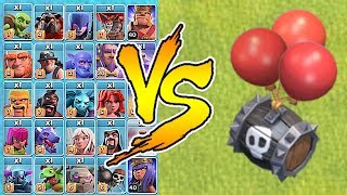 "SKELETON BARREL vs. ALL TROOPS!! ""Clash Of Clans"" Halloween update!"