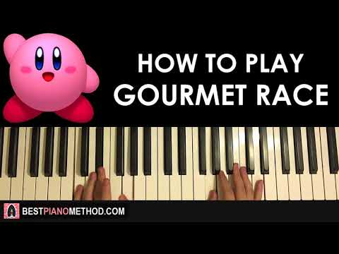 HOW TO PLAY - Kirby - Gourmet Race (Piano Tutorial Lesson)