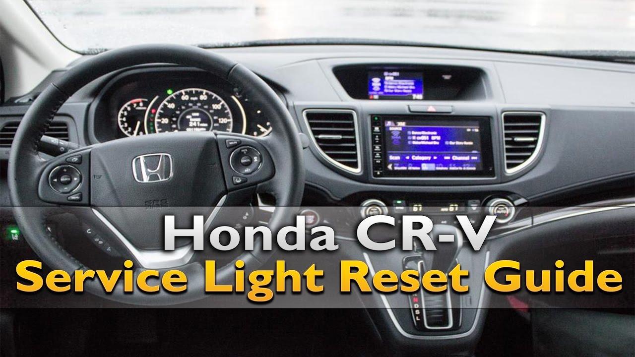 honda crv service light reset youtube
