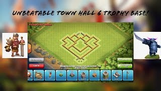 Clash of Clans- Best Town Hall 6 Defense Strategy Ever! (Unbeatable Clash of Clans Town Hall 6 Base)