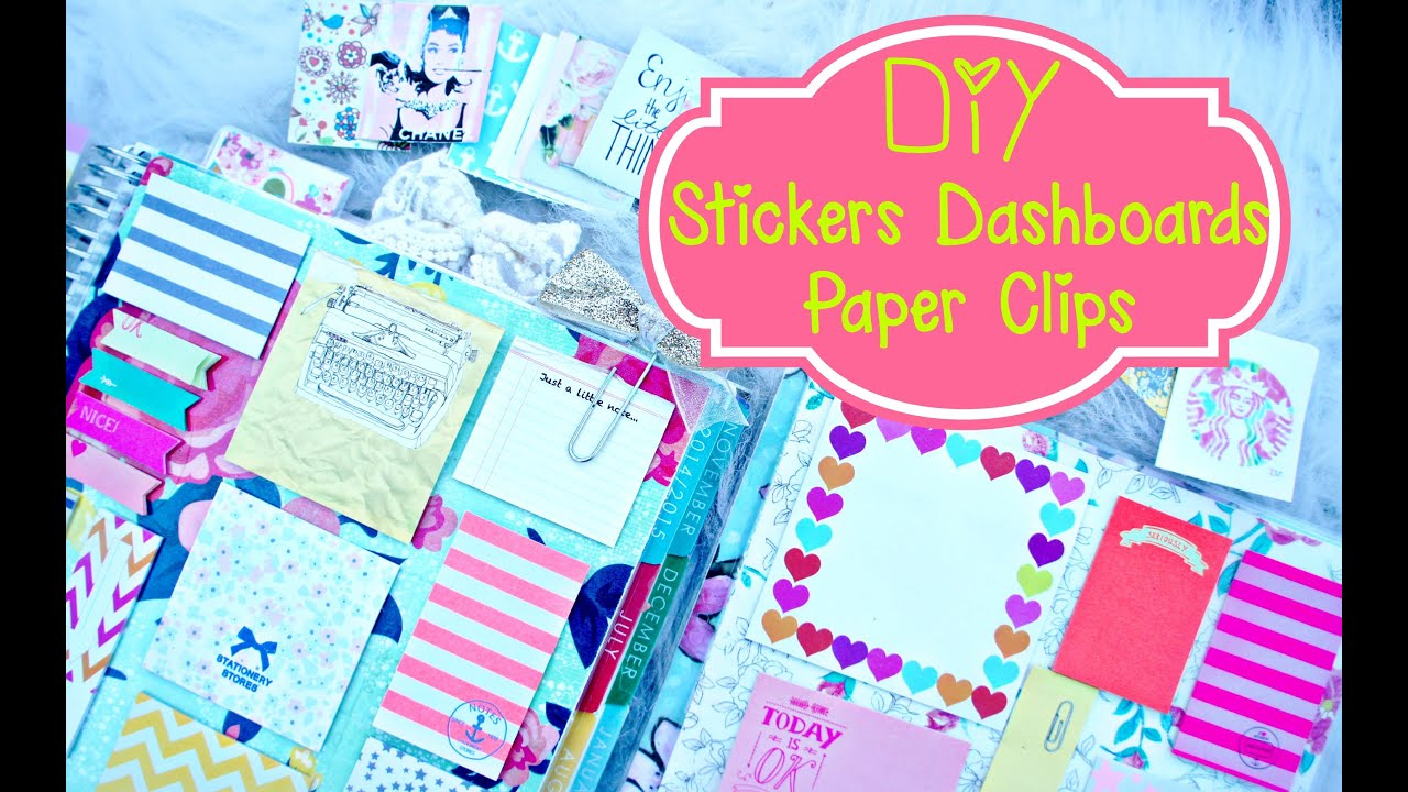 Diy planner supplies stickers paper clilps and erin for What is a planner dashboard