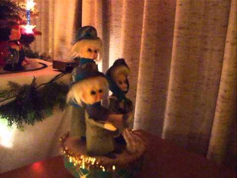 Revolving Christmas Carolers- music box
