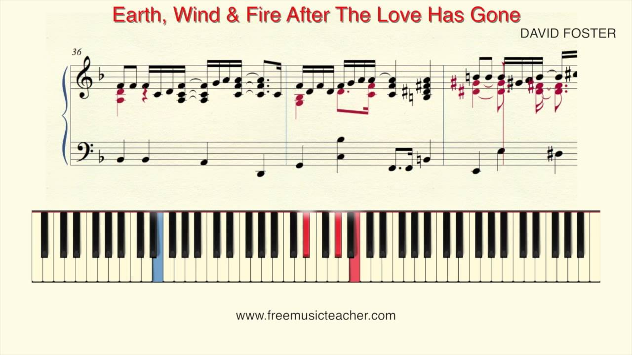 how to play piano earth wind fire after the love has gone piano tutorial by ramin yousefi. Black Bedroom Furniture Sets. Home Design Ideas