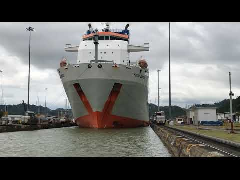 Panama Canal Partial Transit Time Lapse Video