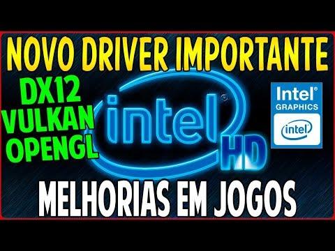 Como Atualizar Novo Driver da Intel HD Graphics DCH - Otimização em Jogos No Windows 10 1903