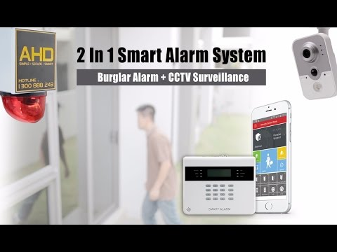 SMART ALARM - 2 in 1 burglar alarm with CCTV System