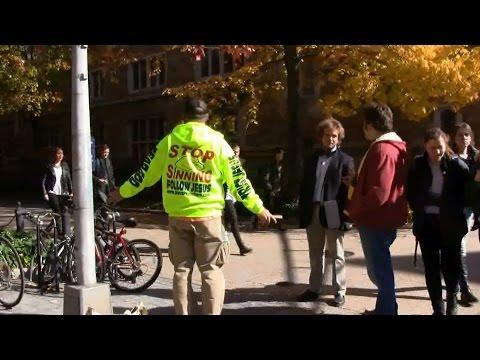 Street Preaching at YALE University - Ivy League   Kerrigan Skelly