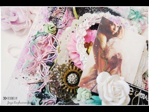 """""""Be You""""- Mixed media canvas with Ken Oliver Liquid metals"""