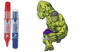 Incredible Hulk Strike | Hulk Coloring Pages | SAILANY Coloring Kids