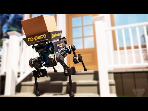 Continental's Robot Dogs As Delivery Robots Could Help Deliver Parcels.