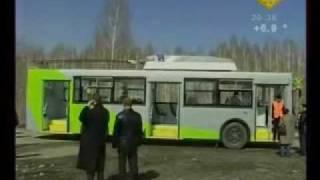 В Новосибирске прошёл испытания гибридный троллейбус(25 апреля 2011г. В Новосибирске прошла испытание перед запуском на линию первая в России модель гибридного..., 2011-04-28T17:29:48.000Z)