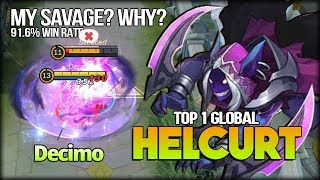 91.6% Win Rate, Silent Nightmare by Decimo Top 1 Global Helcurt - Mobile Legends