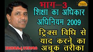 अनिवार्य शिक्षा अधिकार अधिनियम 2009    part-3   , anivarya shiksha adhiniyam 2009, rte act  2009