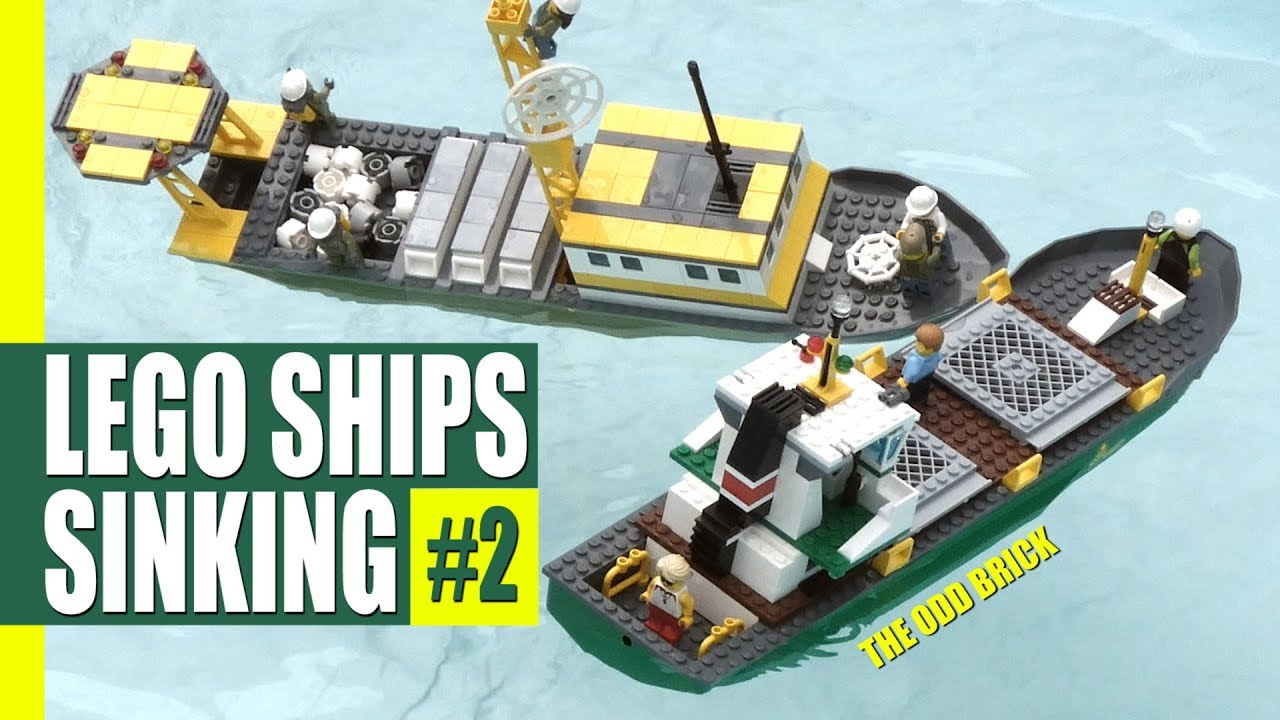 Lego Ships Sinking 2 Collision At Sea Youtube