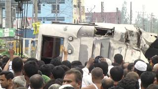Rangpur Terminal Bus Accident Video 1