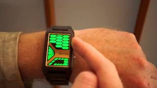 Kisai Console Futuristic Wooden LED Watch from Tokyoflash Japan