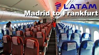 My 40€ Dreamliner Flight   Trip Report   Latam (Economy)   Boeing 787   Madrid to Frankfurt