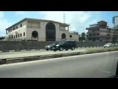 Drive in Lagos, Nigeria 2015   Roads of Victoria Island, Ikoyi and Lekki   YouTube 360p