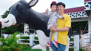 Nora Visited Moo Moo Farm to Buy Fresh Milk for Breakfast