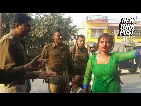 A Young Desi Girl Beaten by man in India - shame