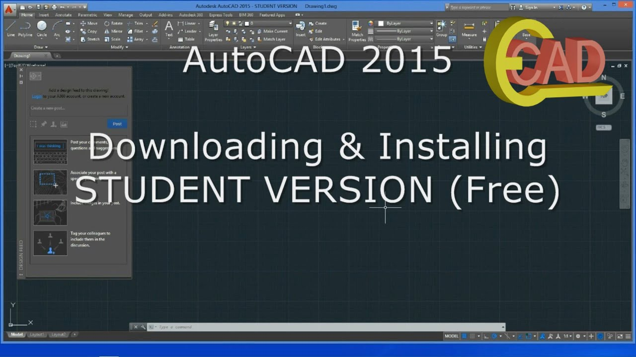 AutoCAD 2015: How to download and Install free/ student version ...