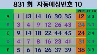 301회  나눔로또 예상번호10