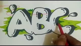 Download Video Ternyata Sangat Mudah Trik Cara Membuat Graffiti Bubble Abjad Letter ABC MP3 3GP MP4