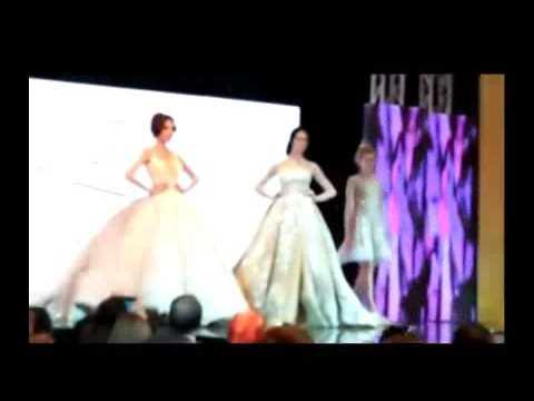5b5964cbc438d أروع فستان زفاف فى احدث عرض ازياء سامو وهجرس - YouTube