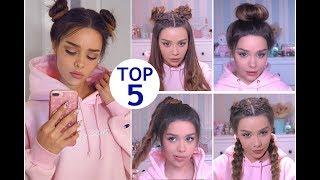видео 10 неряшливо собранных причесок для длинных волос