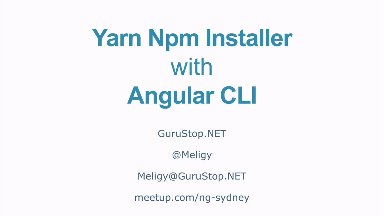 npm install yarn gulp