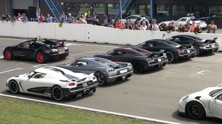 EPIC Koenigsegg Lineup, Revs, Acceleration, Fly Bys on Track