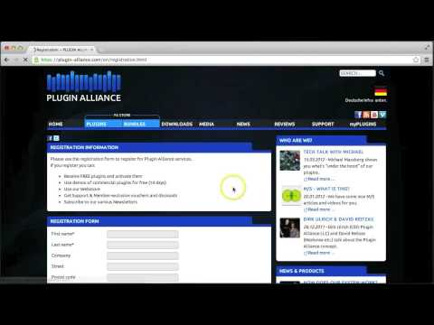 Plugin Alliance - How to open an account