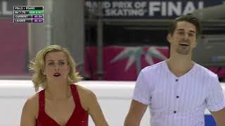 Фигурное катание Финал Гран при 2019 Танцевальные пары Ритм танец Американцы Хуббелл и Донохью