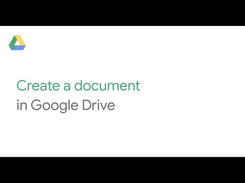 How To: Create a document in Google Drive