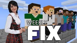 Weekly Fix 90 -Microsoft  تشتري الاستوديو العامل على لعبة Minecraft ومسابقة