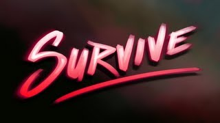 """""""Survive"""" Minecraft Artwork (1980"""