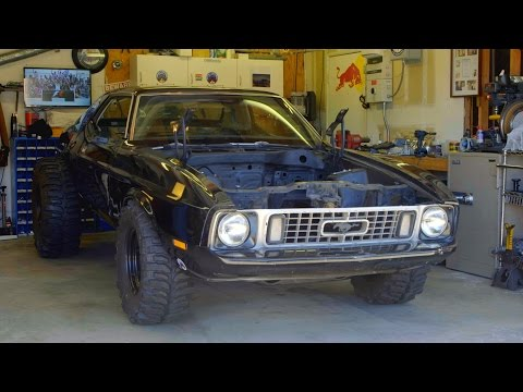 Super Swampers on a 73 Mustang and How To Measure Wheel Backspace for an Awesome Stance