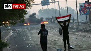 What has caused the latest violent protests in Iraq?
