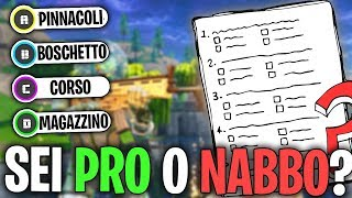 Quanto sei FORTE su FORTNITE? SCOPRILO con QUESTO TEST! | Fortnite Quiz