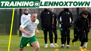 Europa League training at LXT Celtic train before taking on AC Milan